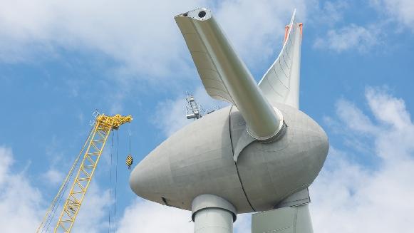 Turbina eólica a la que se le realizo blade repair.